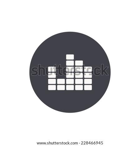 sound wave icon - stock vector