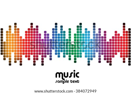 sound wave music background - stock vector
