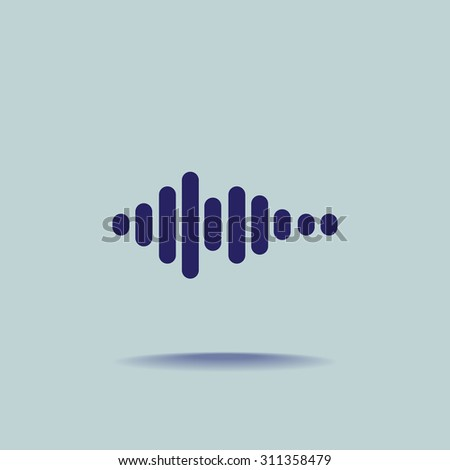 Sound wave music vector icon - stock vector