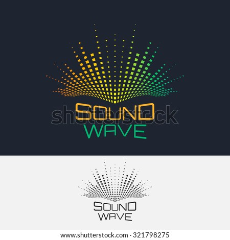 Sound Wave, vector logo design template. Abstract modern equalizer. - stock vector