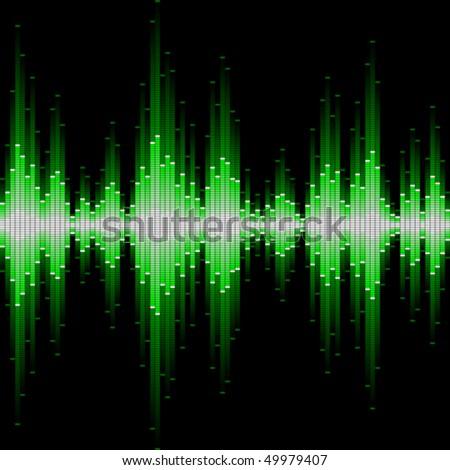 Sound waveform. Seamless vector. - stock vector