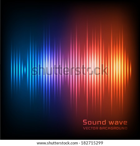 Sound waves background. Vector eps10 - stock vector