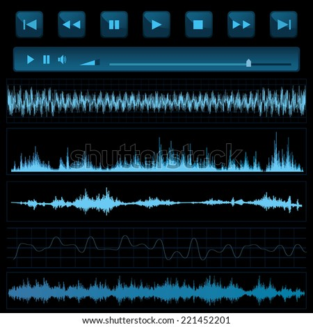 Sound waves. Music background. - stock vector