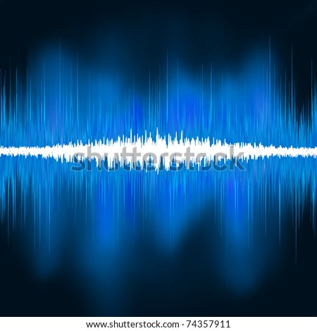 Sound waves oscillating glow light. EPS 8 vector file included