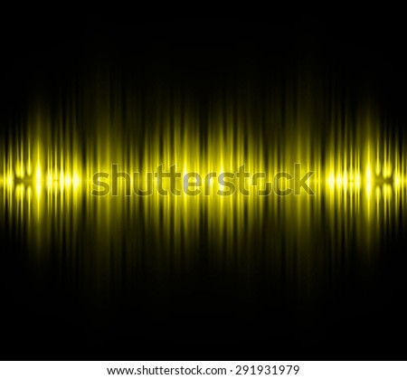 Sound waves oscillating glow yellow light, Abstract technology background. Vector. infographics