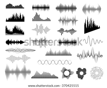 Sound waves set. Sound waves set art. Sound waves set web. Sound waves set new. Sound waves set www. Sound waves set app. Sound waves set best. Sound waves set color. Sound waves set shape - stock vector