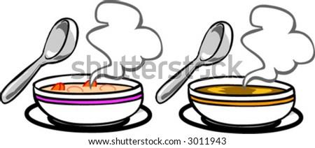 Soup - stock vector