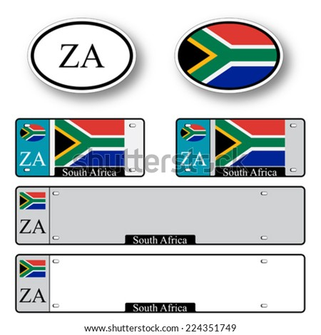 south africa auto set against white background, abstract vector art illustration, image contains transparency - stock vector
