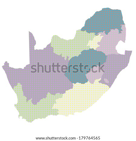 South Africa Country map - stock vector