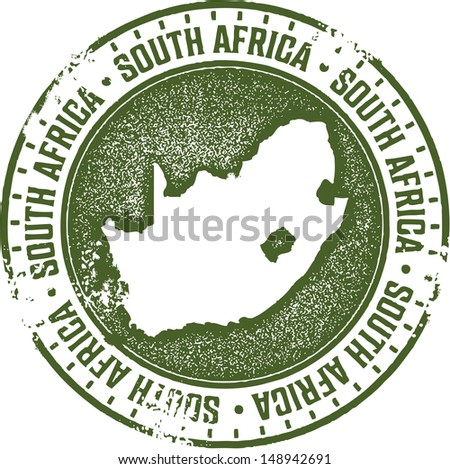 South Africa Country Stamp - stock vector