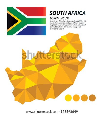 South Africa geometric concept design - stock vector