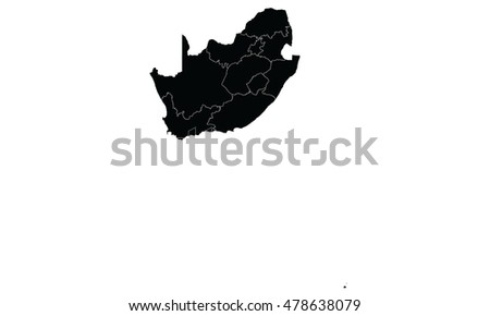 South Africa map black color