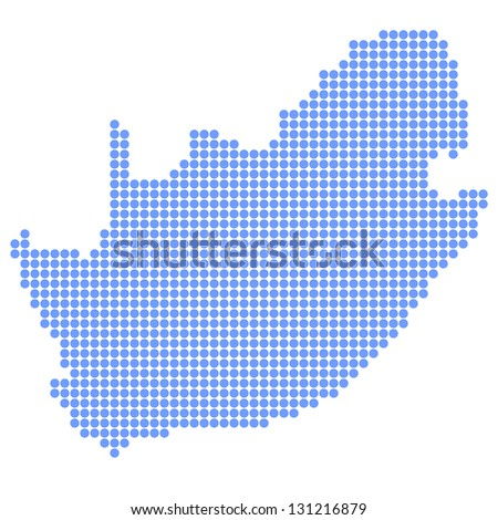 South Africa map round - stock vector