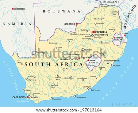 South africa political map capitals pretoria vectores en stock south africa political map capitals pretoria vectores en stock 197013164 shutterstock gumiabroncs Choice Image