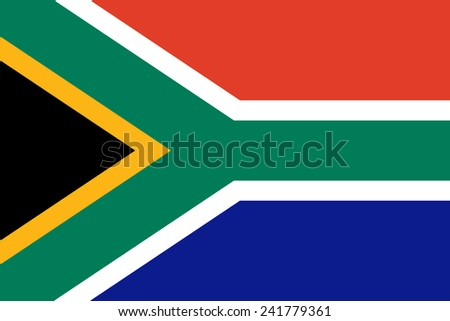 South African flag - stock vector