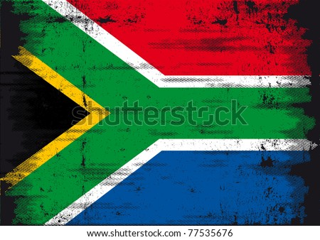 South African flag. A grunge South African flag for you - stock vector
