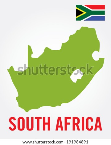 South African Map Set - Vector - stock vector