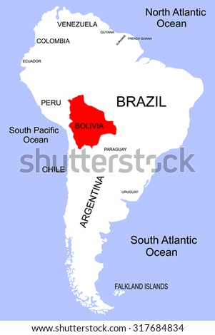 South America Bolivia Stock Vector 2018 317684834 Shutterstock