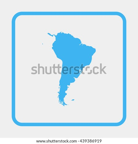 South America map. - stock vector