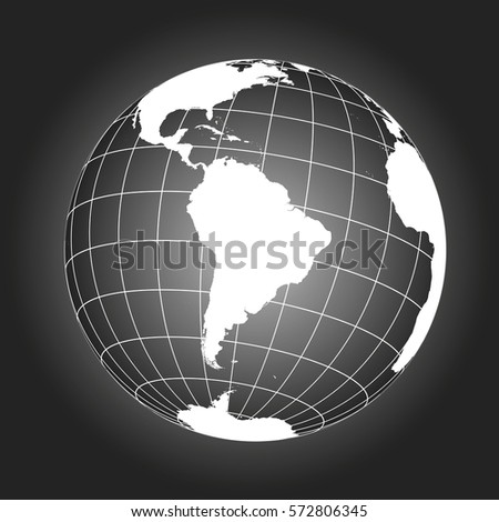 South America Map Antarctica North America Stock Vector 572806447