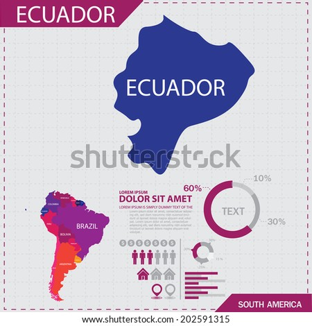South america Map Infographic