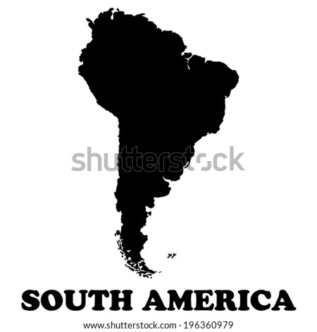 South America map  - vector illustration - stock vector
