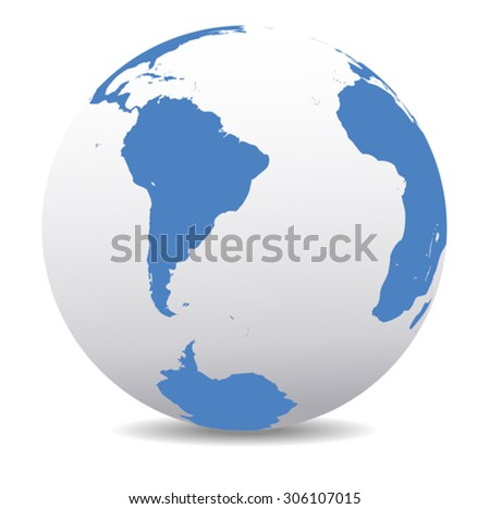 South America,South Pole and Africa Global World - stock vector