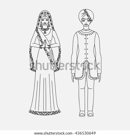 Kashmir dress drawing images
