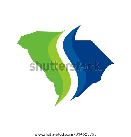 south carolina logo template. unique icon for south carolina. - stock vector