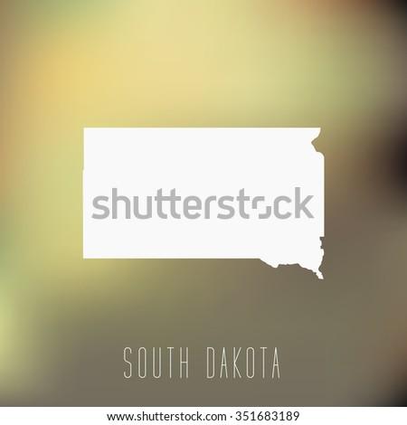 South Dakota - stock vector