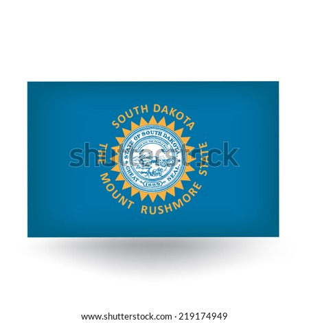 South Dakota Flag - stock vector