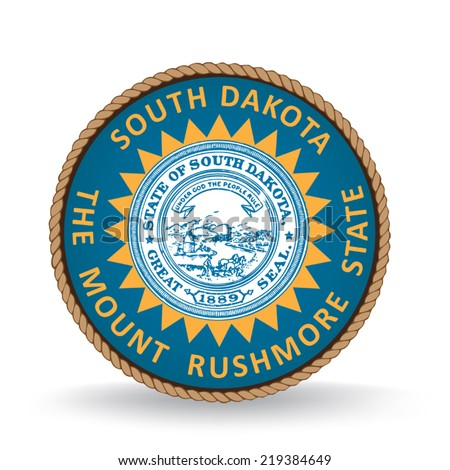 South Dakota Seal - stock vector