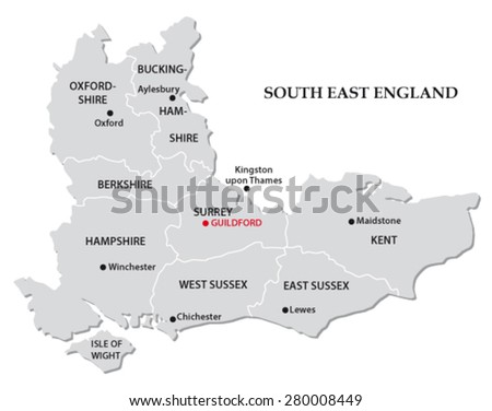 South East England Administrative Map