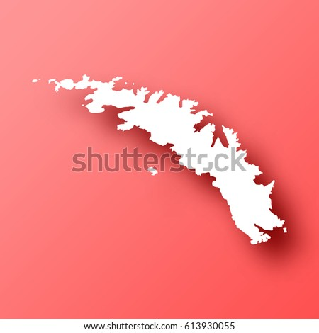 South Georgia South Sandwich Islands Map Stock Vector - Georgia map template