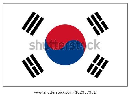South Korea Flag  - stock vector