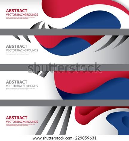 South Korea Flag Abstract Background Art, Vector Seoul Temple (vector Art) - stock vector