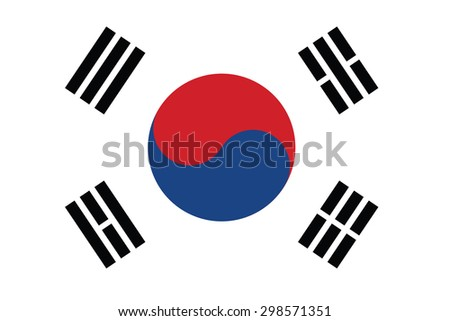 South Korea Flag vectors - stock vector