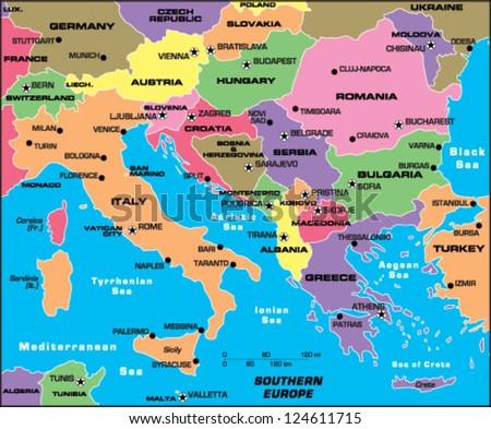 Balkan Map Stock Images Royalty Free Images Vectors Shutterstock