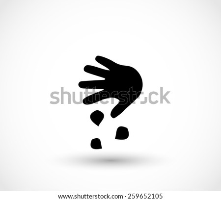 Sowing the seeds, hand, icon vector - stock vector