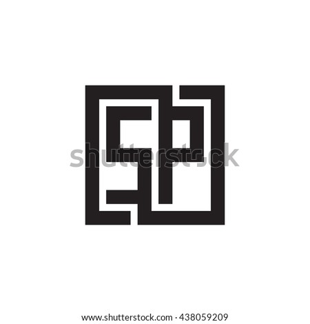 SP initial letters looping linked square monogram logo