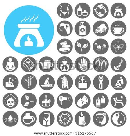 Spa & Beauty icons set. Vector Illustration eps10 - stock vector