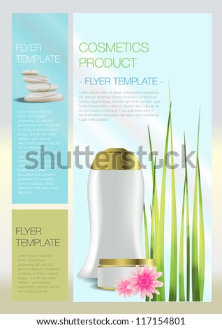 Spa Cosmetic flyer - stock vector