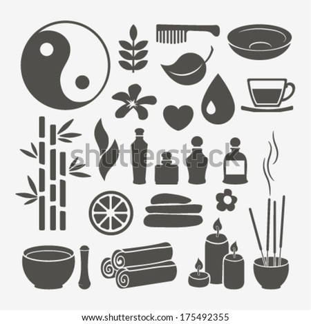 spa design elements - stock vector