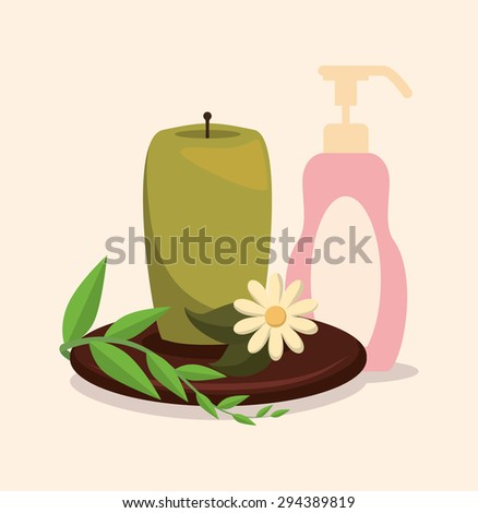 Spa icons digital design, vector illustration 10 eps graphic - stock vector