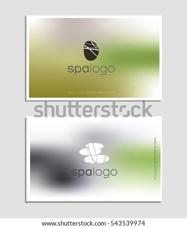 Spa logo business card template spa stock vector 543539974 spa logo and business card template for spa resort or beauty business zen stone and colourmoves