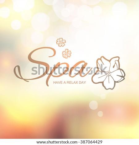 Spa Resort or Beauty Business Background.Blur & Bokeh Background. Vector illustration - stock vector