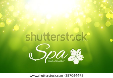 Spa Resort or Beauty Business Background. Eco Design. Wood Texture. Vector illustration - stock vector