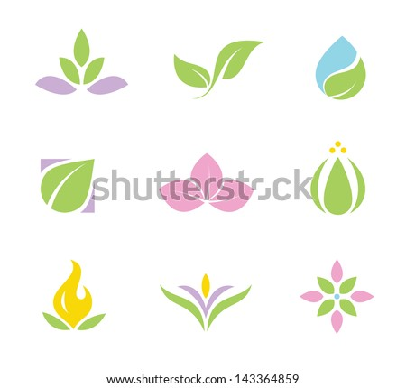 spa set of symbols and icons part I - stock vector