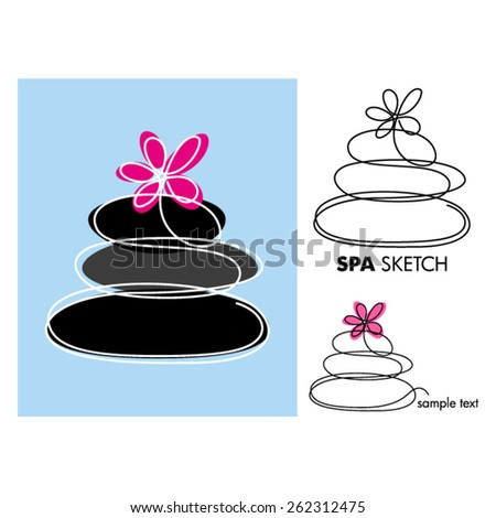 SPA sketch - stock vector