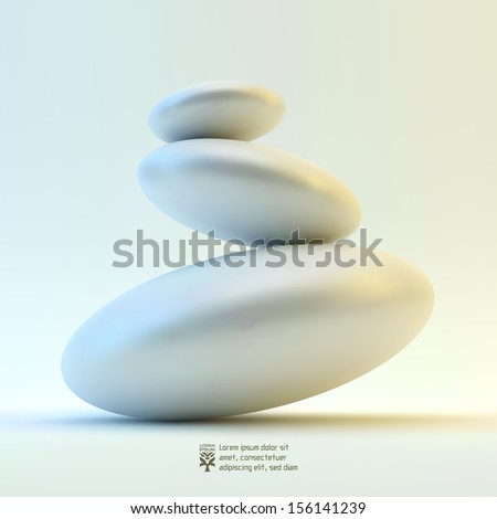 Spa stones. Vector 3d illustration. - stock vector